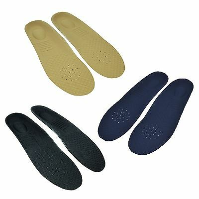 1 x Pair Unisex Ultra Comfy Memory Foam Orthotic Golf Shoe Trainer Insoles New