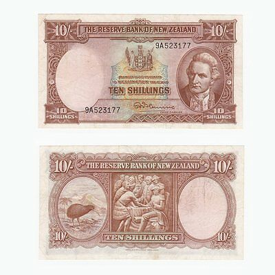 NEW ZEALAND - 10 Shillings Banknote - P.158c (1956-60)