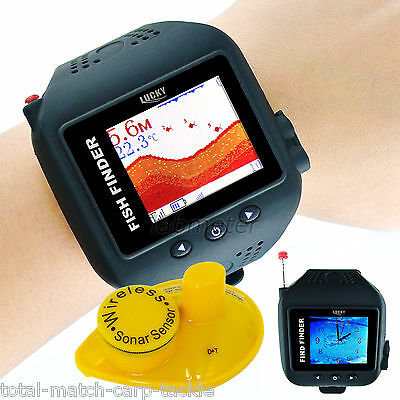 Wireless Watch Fish Finder,  Sonar, Antenna. Boat, Kayak, Canoe. 60 Metre range,