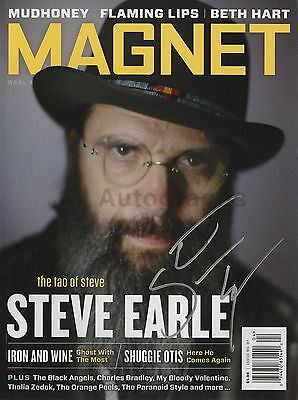 """Steve Earle - Singer-Songwriter - Authentic Autographed """"Magnet"""" Magazine"""