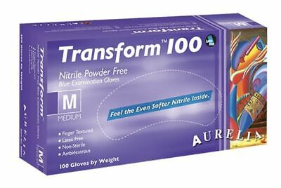 NON LATEX & POWDER FREE Aurelia TRANSFORM Strong BLUE NITRILE Gloves
