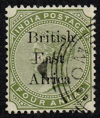 British East Africa 1895-96 4a. olive-green, used (SG#55)