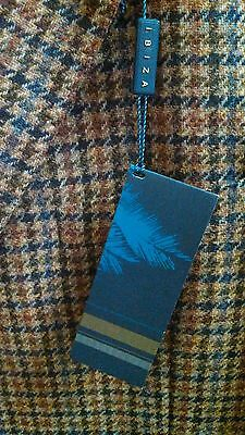 IBIZA 2B Side Vent Sport Coat 100% Shetland Wool Tweed Multi Check $395 NWT 44R