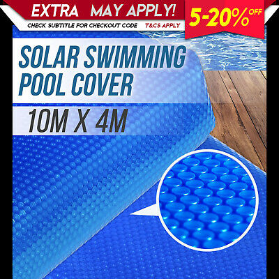 NEW SOLAR SWIMMING POOL COVER 400 Micron Outdoor Bubble Blanket Heat Absorption