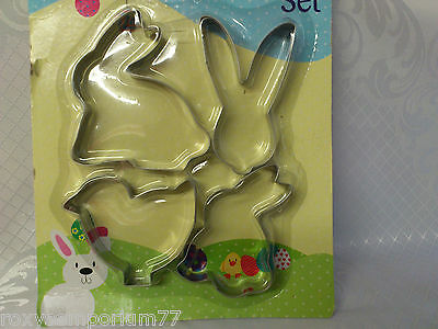Easter Biscuit Cookie Pastry Cutter Baking Set Chick Egg Bunny Head Steel Shape