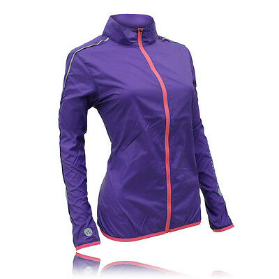 Higher State Lightweight Womens Pink Purple Running Sports Zip Jacket Top