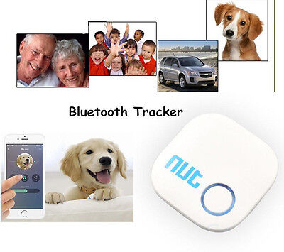 White Smart Nut 2 Tag Bluetooth Tracker Bag Wallet Key Finder GPS Locator Alarm