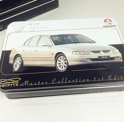 HOLDEN Master Collection Empty Metal Tin VT--( Nice 110 card storage box)