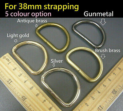 Heavy Duty Non Welded D Rings - Buckles for 38mm Webbing Hand Bags Leather craft