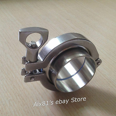 """2""""Tri Clamp 304 Stainless Steel Clover Sanitary Weld Ferrule Gasket Pipe Fitting"""