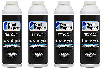 Pack of 4 Flea Killer Powder Pest Expert Formula P 300g for a larger coverage