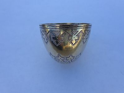 Early 1880s Imperial Russian St. Petersburg Novelty Silver Easter Egg Cup JAL !