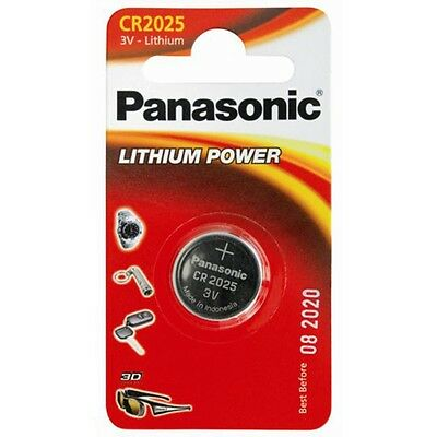 1 x Panasonic CR2025 3V Lithium Coin Cell Battery 2025