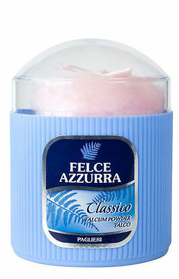Felce Azzurra Powder Talc Finest Talc Talcum for Adults&Baby+Soft Puff  250 gr