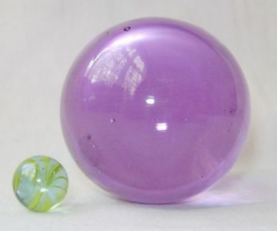 NEW PURPLE GARGANTUAN 60mm GLASS MARBLE TRADITIONAL GAME or COLLECTORS ITEM HOM