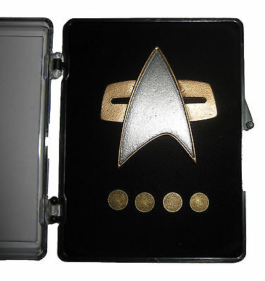 STAR TREK Voyager Communicator Pin Set deluxe - 5 teilig orig Replica