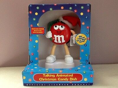 M&M Talking Animated Christmas Candy Dish