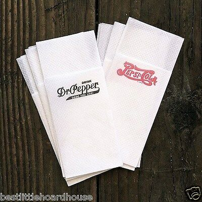 90 BULK WHOLESALE Original PEPSI COLA DR. PEPPER PAPER NAPKINS unused NOS