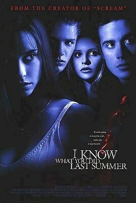 I KNOW WHAT YOU DID LAST SUMMER MOVIE POSTER ~ FACES 27x40 Jennifer Love Hewitt