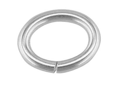 Sterling Silver Oval Jump Rings 925 Open Heavy 3 4 5 6 7 8 9 10 mm- UK QUALITY
