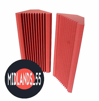 2 RED Professional Acoustic Foam (600x280mm) Bass Traps Sound Treatment