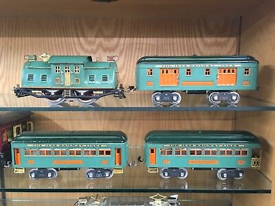 Ives Wide Gauge 10 Locomotive VGC Rewheeled Orange Stripe
