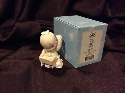 Precious Moments Bless You- Baby Pulling Tissues Out Of Box  MIB 620021