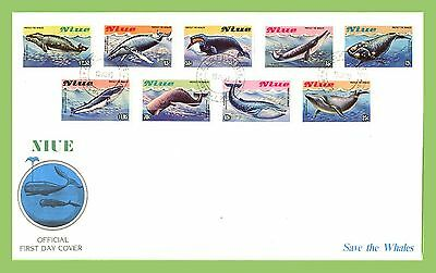 Niue 1983 Protect the Whales  FDC