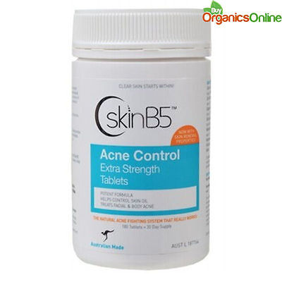 SkinB5 Acne Control Extra Strength 180 Tablets by skin B5