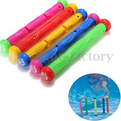 Set of 5 19CM Underwater Fun Dive Stick Diving Swimming Pool Toy Kids Water Play