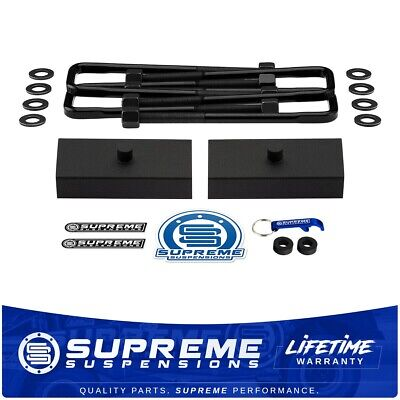 "Chevy Avalanche Suburban 2500 2000-2013 2WD 4WD 1"" Rear Block U-Bolts Lift Kit"