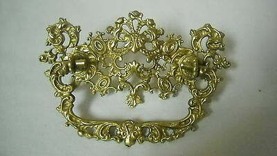 "Antique Ornate Victorian  Heavy Cast Brass Drawer Pull 3"" Center"