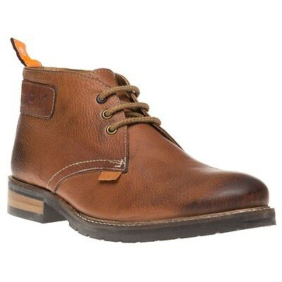 New Mens Superdry Tan Ryan Chukka Leather Boots Lace Up