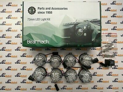 Land Rover Defender LED Lamp Upgrade Kit 73mm CLEAR Lens - Bearmach - BA 9718