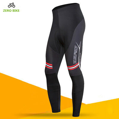 Outdoor Fall Mens Bike Long Pants Cycling Riding 3D GEL Padded Tights Cycle Wear
