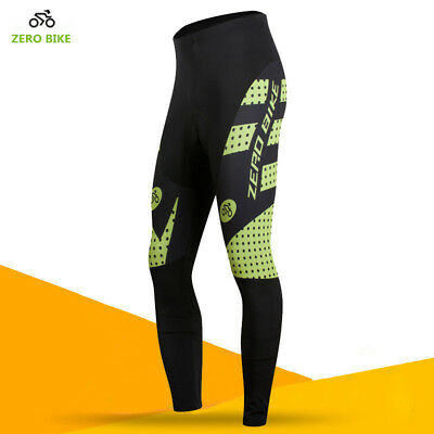 Men Breathable Bike Cycling Bicycle Pants Cushion Padded Tights Long Trousers