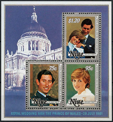 Niue 1981 Royal Wedding MS MNH