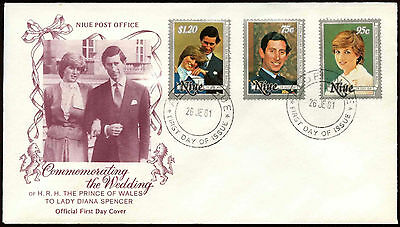 Niue 1981 Royal Wedding FDC