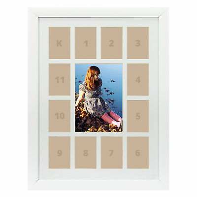 Craig Frames 12x16 Cherry Wood Picture Frame White Collage Mat 13