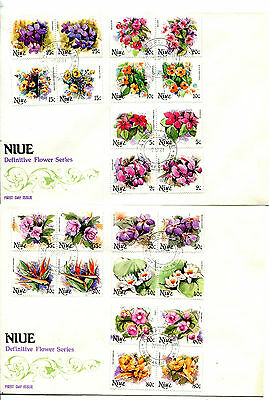 Niue 1981 Flowers (1st series) Set of 30 on 5 FDC