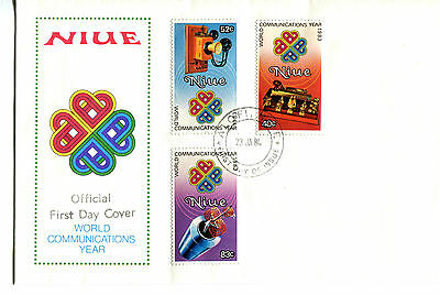 Niue 1984 World Communications Year FDC