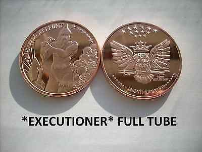 20-1 Oz Copper Coins *executioner* Anonymous Mint Logo Coin Owl Skulls 1-100