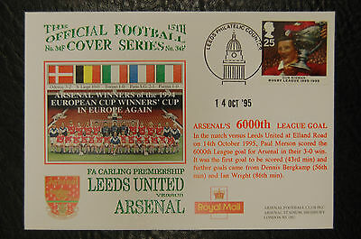 ARSENAL 6000th LEAGUE GOAL 1995 FOOTBALL COVER