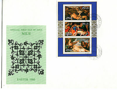 Niue 1980 Festival of South Pacific Arts MS FDC