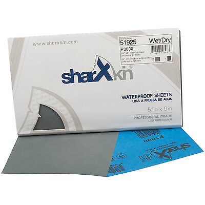 "Wet Dry Sandpaper Sheets 5½""x9"" Ideal for Car Repair 50 Pack Grit P3000"