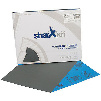 "Wet & Dry Sandpaper Sheets 9"" x 11"" Ideal for Car Repair 50 Pack Grit P2000"