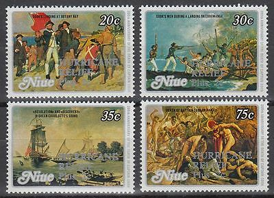 Niue 1980 Hurricane Relief opt on Captain Cook MNH