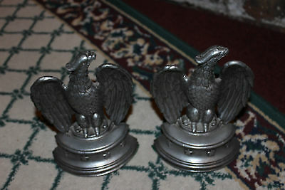 Vintage Sexton USA American Eagle Cast Metal Bookends-Pair Eagle Bookends