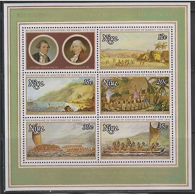 Niue 1978 Discovery of Hawaii MS MNH