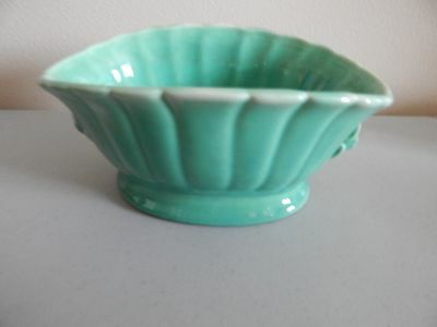 """STANGL Oval Green Planter 3193  6"""" Long"""